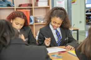 Laurel students in class